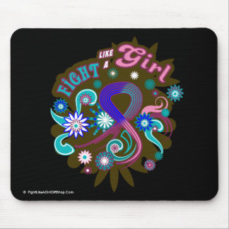 Thyroid Cancer Groovy Fight Like A Girl Mouse Pad