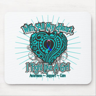 Thyroid Cancer Heart I Fight Like A Girl Mouse Pad