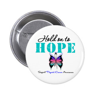 Thyroid Cancer Hold On to Hope Pin