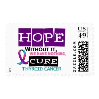 Thyroid Cancer HOPE 2 Postage Stamp