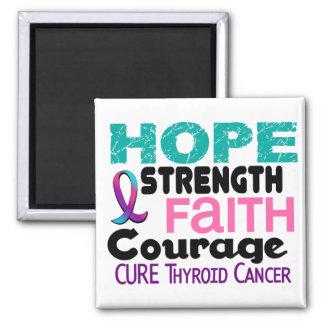 Thyroid Cancer HOPE 3 Fridge Magnet