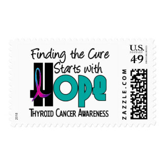 Thyroid Cancer HOPE 4 Postage Stamp