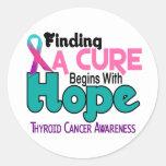 Thyroid Cancer HOPE 5 Classic Round Sticker