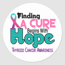 Thyroid Cancer HOPE 5 Classic Round Sticker