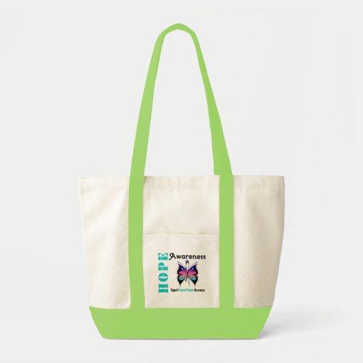 Thyroid Cancer Hope Awareness Canvas Bags