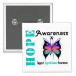 Thyroid Cancer Hope Awareness Pin