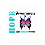 Thyroid Cancer Hope Awareness Post Cards
