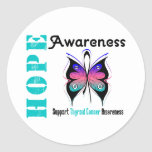 Thyroid Cancer Hope Awareness Stickers