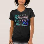 Thyroid Cancer Hope Faith Motto Tshirts