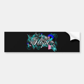 Thyroid Cancer Hope Garden Ribbon Car Bumper Sticker