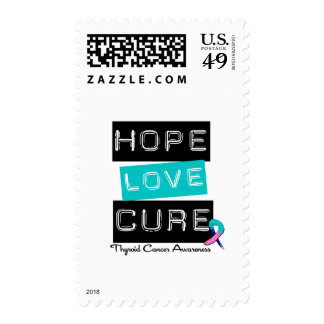 Thyroid Cancer Hope Love Cure Postage Stamps