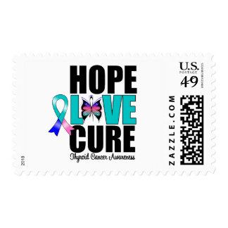 Thyroid Cancer Hope Love Cure Stamps