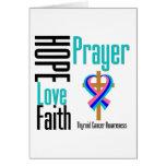 Thyroid Cancer Hope Love Faith Prayer Cross Greeting Card