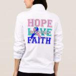Thyroid Cancer Hope Love Faith Survivor Jackets