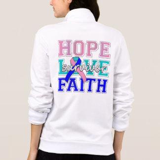 Thyroid Cancer Hope Love Faith Survivor Printed Jacket