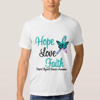Thyroid Cancer Hope Love Faith Tee Shirt