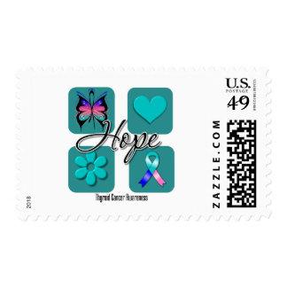 Thyroid Cancer Hope Love Inspire Awareness Stamp