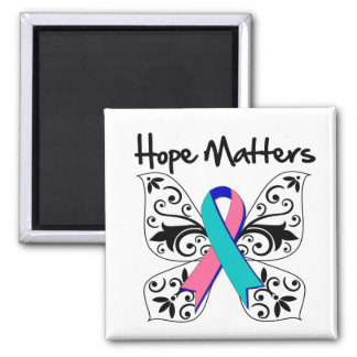 Thyroid Cancer Hope Matters 2 Inch Square Magnet