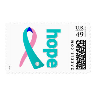 Thyroid Cancer Hope Ribbon Stamp