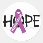 Thyroid Cancer Hope Round Sticker
