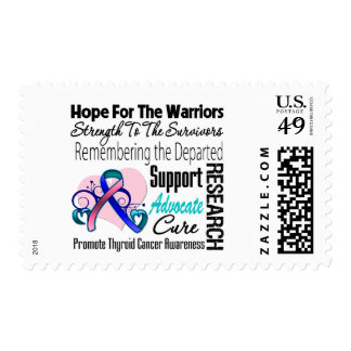 Thyroid Cancer Hope Tribute Collage Postage Stamps