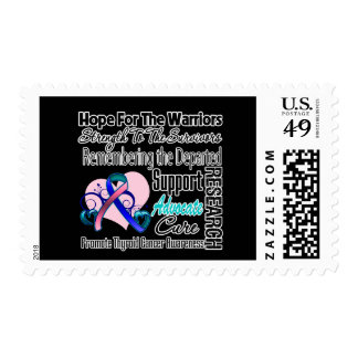 Thyroid Cancer Hope Tribute Collage Stamp
