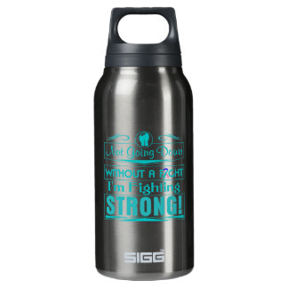 Thyroid Cancer I Am Fighting Strong 10 Oz Insulated SIGG Thermos Water Bottle