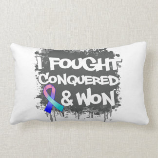 Thyroid Cancer I Fought Conquered Won Pillow