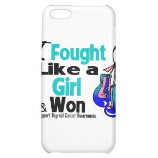 Thyroid Cancer I Fought Like a Girl and Won iPhone 5C Cover