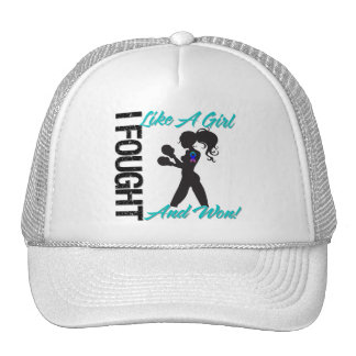 Thyroid Cancer I Fought Like A Girl and Won Trucker Hat