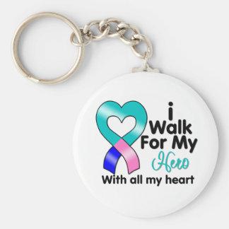 Thyroid Cancer I Walk For My Hero Keychains