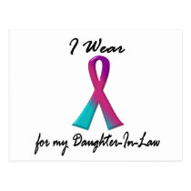 Thyroid Cancer I WEAR 1 Daughter-In-Law Postcard