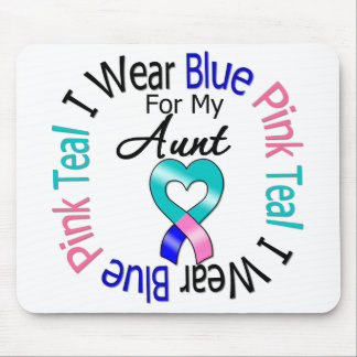 Thyroid Cancer I Wear Heart Ribbon For My Aunt Mouse Pad