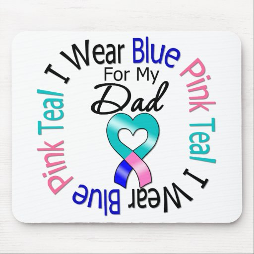 Thyroid Cancer I Wear Heart Ribbon For My Dad Mouse Pad