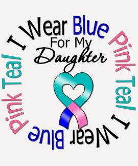 Thyroid Cancer I Wear Heart Ribbon For My Daughter T-Shirt