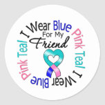 Thyroid Cancer I Wear Heart Ribbon For My Friend Stickers