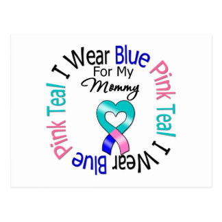 Thyroid Cancer I Wear Heart Ribbon For My Mommy Postcard