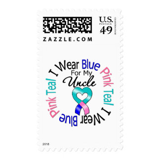 Thyroid Cancer I Wear Heart Ribbon For My Uncle Postage Stamp