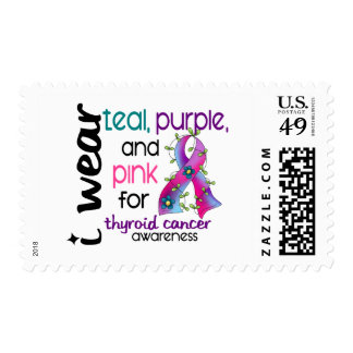 Thyroid Cancer I Wear Ribbon For Awareness 43 Postage