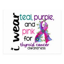 Thyroid Cancer I Wear Ribbon For Awareness 43 Postcard