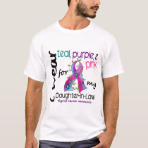 Thyroid Cancer I Wear Ribbon For Daughter-In-Law T-Shirt