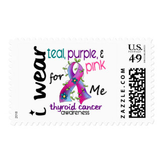 Thyroid Cancer I Wear Ribbon For ME 43 Stamps