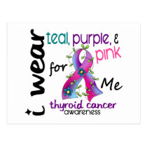 Thyroid Cancer I Wear Ribbon For ME 43 Postcard