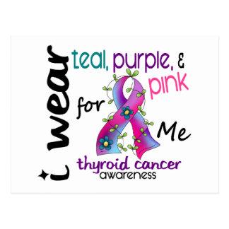 Thyroid Cancer I Wear Ribbon For ME 43 Postcard