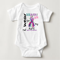 Thyroid Cancer I Wear Ribbon For My Aunt 43 Baby Bodysuit