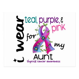 Thyroid Cancer I Wear Ribbon For My Aunt 43 Post Cards