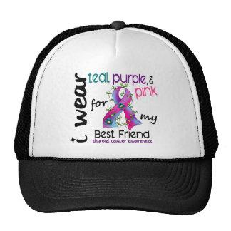 Thyroid Cancer I Wear Ribbon For My Best Friend 43 Trucker Hat