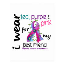 Thyroid Cancer I Wear Ribbon For My Best Friend 43 Postcard