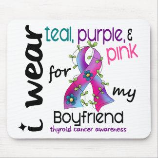 Thyroid Cancer I Wear Ribbon For My Boyfriend 43 Mouse Pad