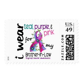 Thyroid Cancer I Wear Ribbon For My Brother-In-Law Stamps